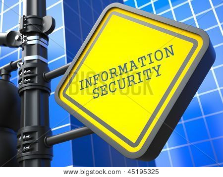 Secure Concept. Information Security Waymark.