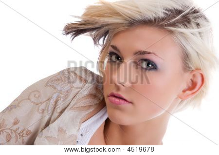 Beautiful Model With A Trendy Haircut
