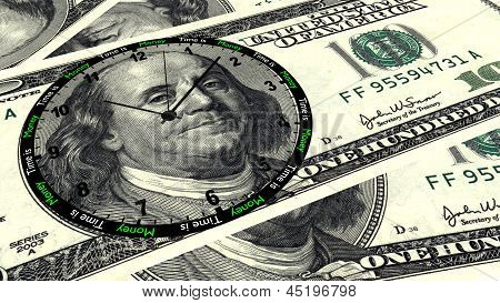 Time Is Money 100 Dollar Clock