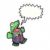 cartoon frog in suit poster