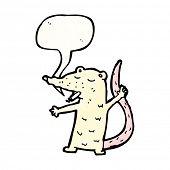 cartoon white mouse smoking cigarette poster