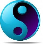 realistic 3d ying yang sign vector illustration poster