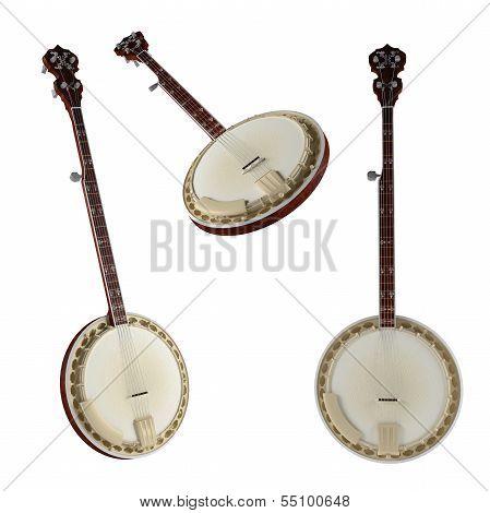 Banjo. Traditional Vietnam musical Instrument.