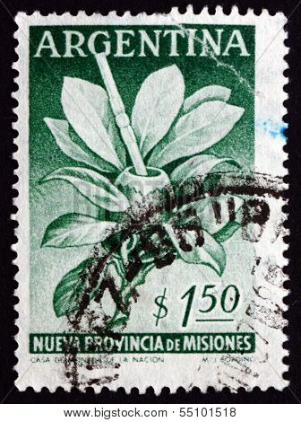 Postage Stamp Argentina 1956 Mate Herb And Gourd