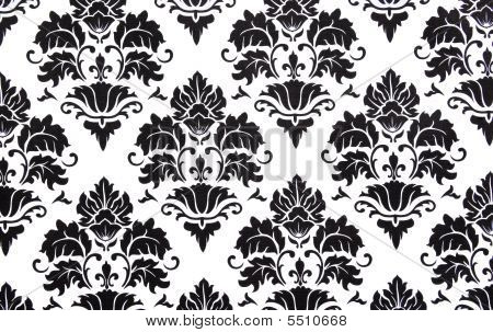 background or scrapbook black and white floral print illustration poster