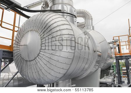Tank Storage With Pipe Line