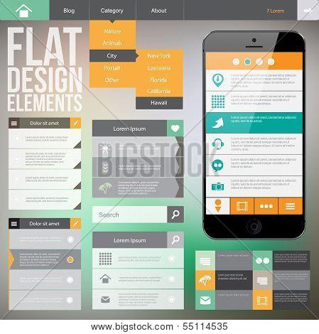 Flat web design
