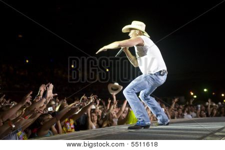 Kenney Chesney On Stage At The Cheyenne Frontier Days Rodeo