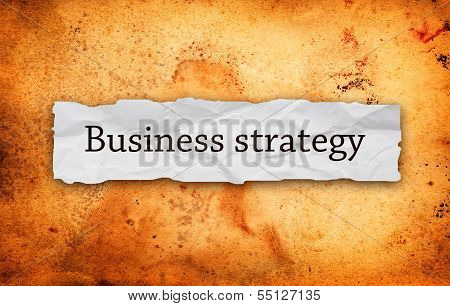 Business Strategy On Piece Of Paper