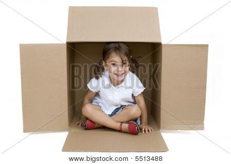 Little Girl Inside A Box