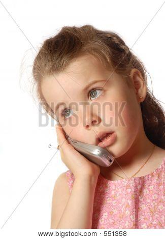 Op de telefoon