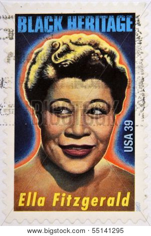 UNITED STATES OF AMERICA - CIRCA 2007: A stamp printed in USA shows Ella Fitzgerald black heritage