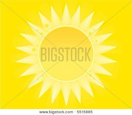 Yellow Sun With Stars