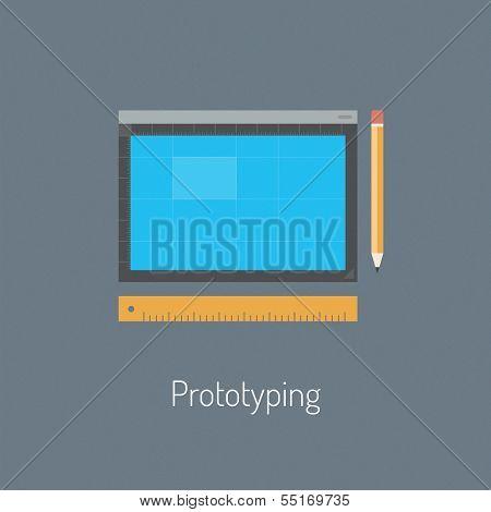 Prototyping Design Flat Illustration