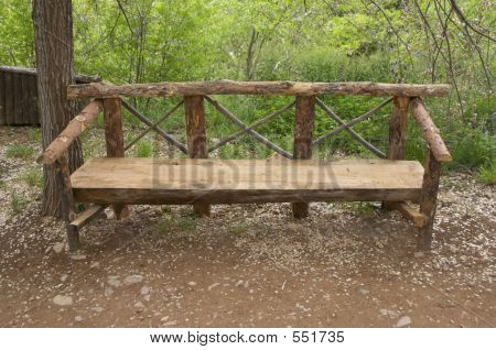 An Empty Bench In The Park