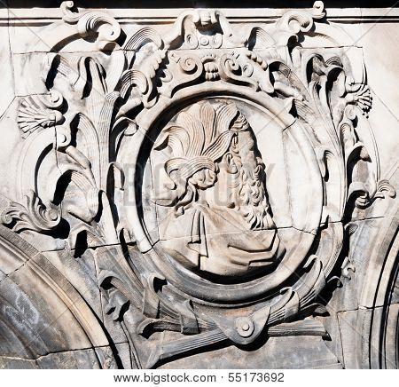 Antique stone carving