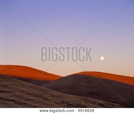 Moon Over Hills