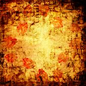 Grunge abstract background with old torn posters poster