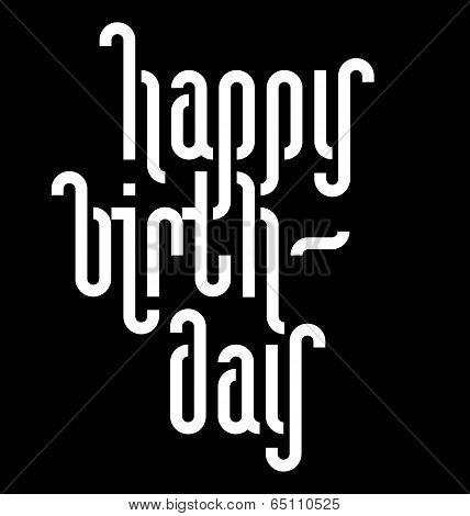 HAPPY BIRTHDAY lettering (vector)