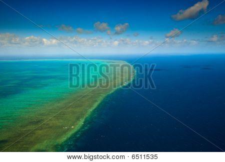 Aerial View Of Arlington Reef At Great Barrier Reef Marine Park