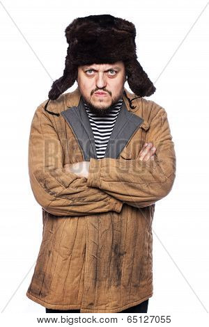 Russian man looking angry