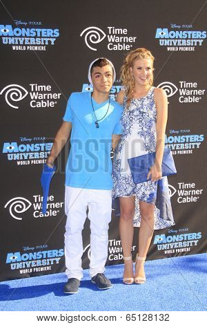LOS ANGELES - JUN 17:  Adam Irigoyen, Caroline Sunshine at the
