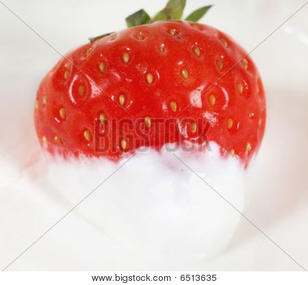 Close-up Photo Of Sweet Strawberry