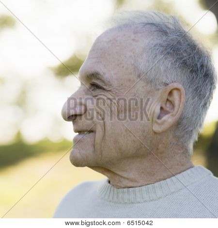 Profile Of Old Man