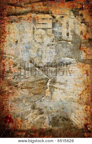Grunge Abstract Ripped Poster Wall Background