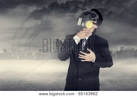 Businessman Hard To Breathe
