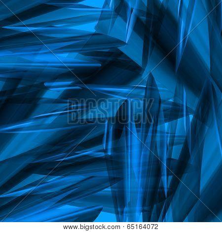 Angular Blue Abstract