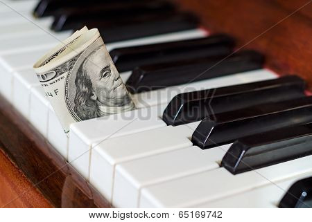 Dollar Bill Stuck In A Piano