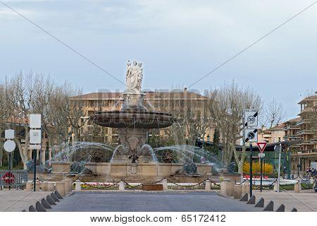 Aix En Provence - France Fountain De La Rotonde.