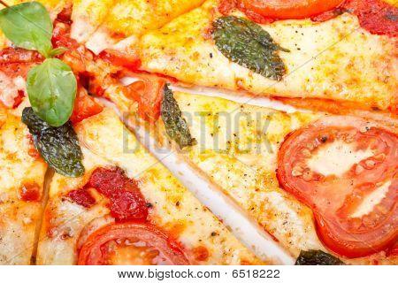 Pizza Margharita Sliced