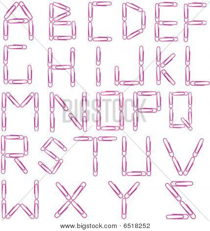 Red Paperclip Alphabet