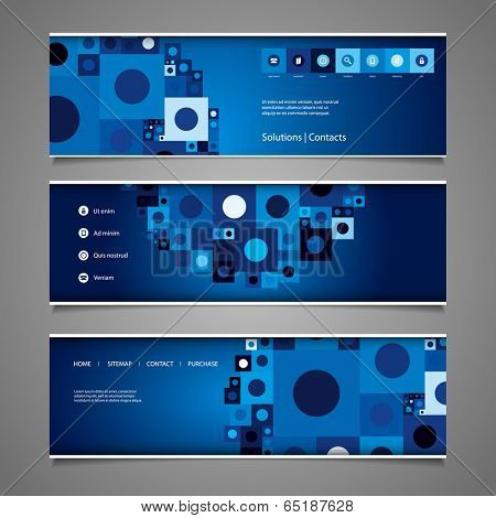 Web Design Elements - Abstract Header Design with Tiles