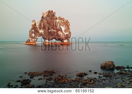 Rock Sea Symbol In Iceland - Hvitserkur