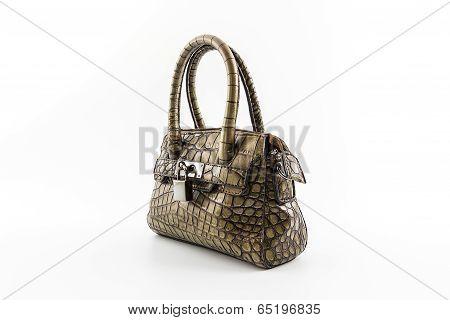 Brown Leather Ladies Handbag.