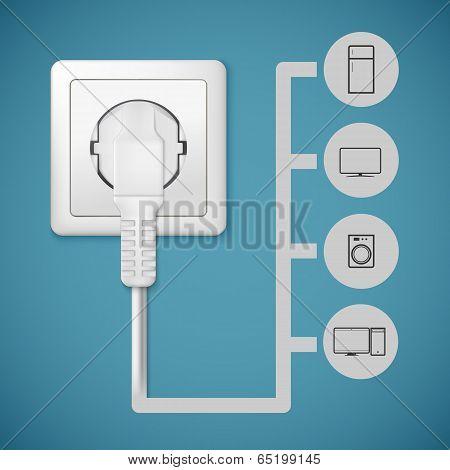 Electrical plug closeup