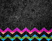 Colorful Chevron Stripe Grunge - Texture or Background poster