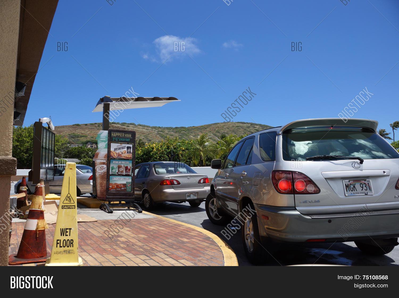 Taco Bell Drive Thru Line Cars Wait Image & Photo | Bigstock