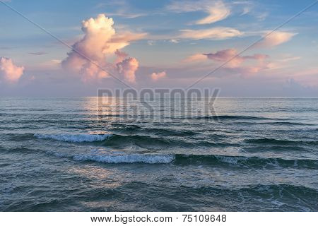 Colorful Seascape At Sunset