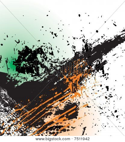 grungy plaint or ink splatter background in vector format,