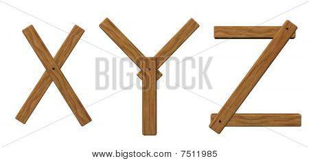 Wooden Letters Xyz