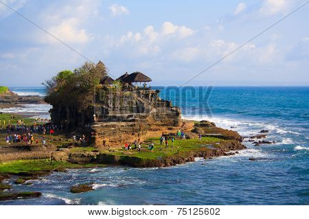 BALI, INDONESIA, OCTOBER 22: Tanah lot temple on OCTOBER 22, 2014 in Bali, Indonesia.
