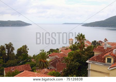 View Of Old Town Of Herceg Novi In Cloudy Day