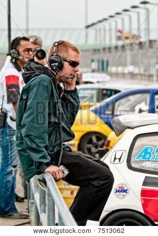 Race Car Technician Waiting