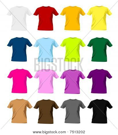 colorful man t-shirt templates and vector illustration poster