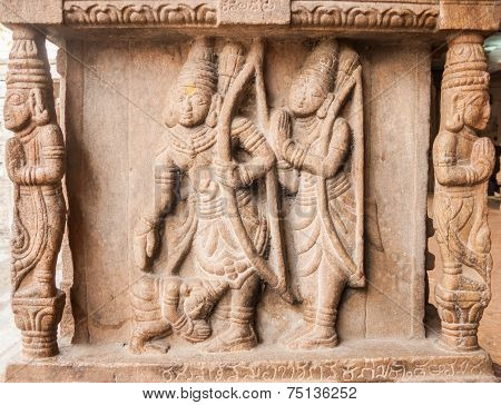 Stone Mural of Rama and Lakshman
