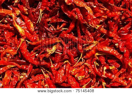 Dried Red Chilies Pattern
